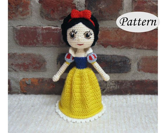 PATTERN  Snow White  Amigurumi  Crochet Doll  by CrochetCuteDolls