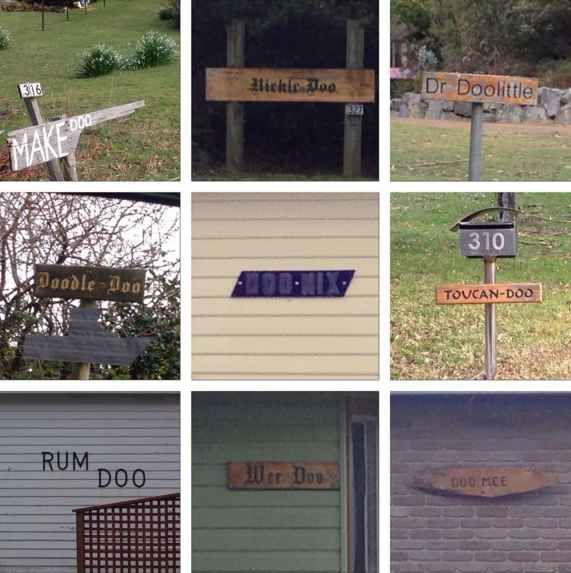 Laugh at funny house names.