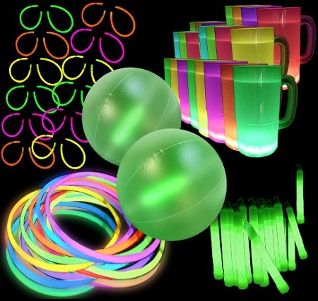 Glow Party Pack | Glow in the Dark Party Pack | 12 Person | Glowsource