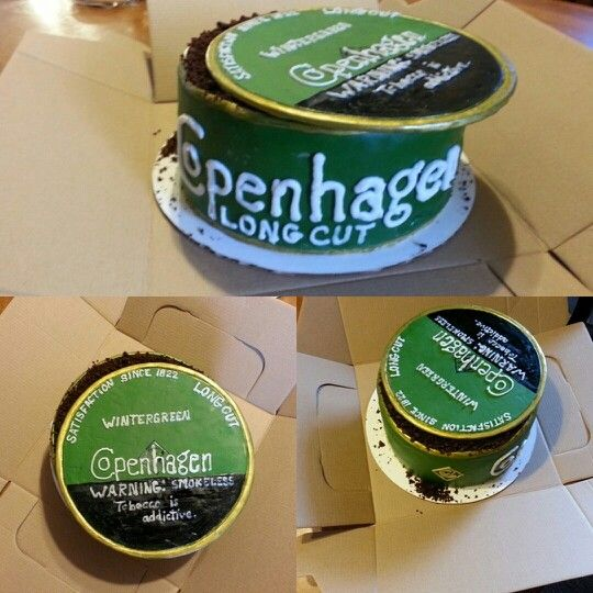 Copenhagen wintergreen long cut birthday cake