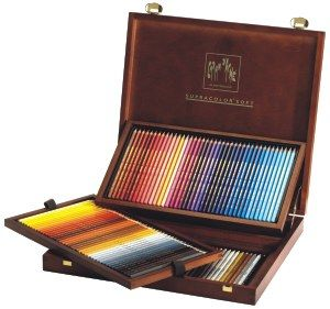 Caran D'Ache Supracolor Soft Watercolour Artists' Pencils 120 Wooden Box