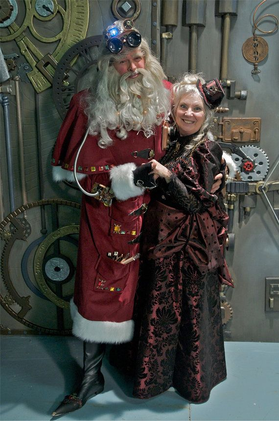 Steampunk Mrs Claus Gown and Teacup Hat by GrindleyStudiosStore, $1000.00