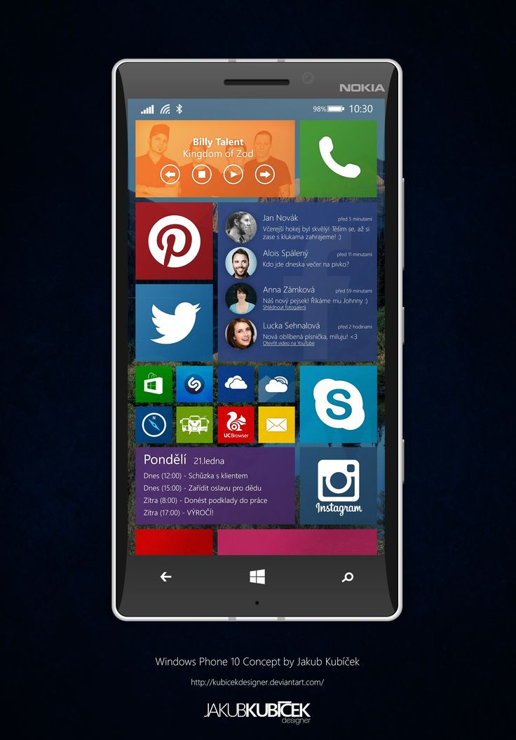 This Windows Phone 10 Concept Has Interactive Live Tiles and an Appealing Flat Look