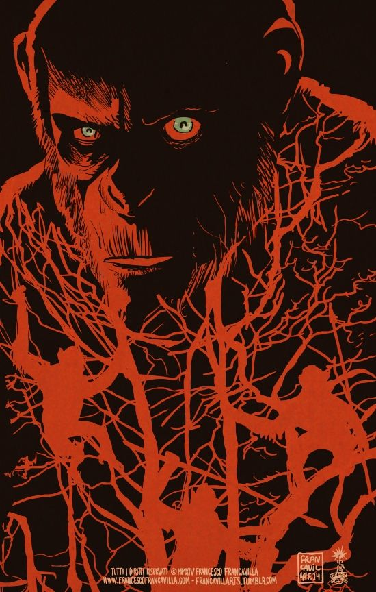 Dawn of the Planet of the Apes by Francesco Francavilla *