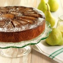 Pear and Molasses Upside-down Cake