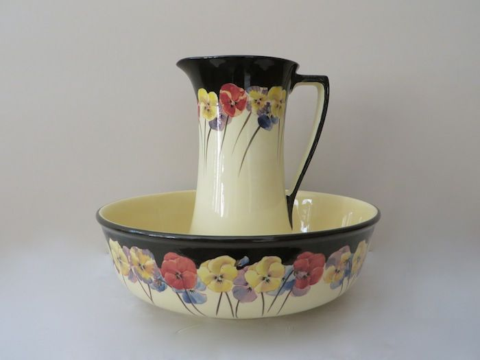 Royal Doulton Pansy Jug And Wash Bowl Rare All Things
