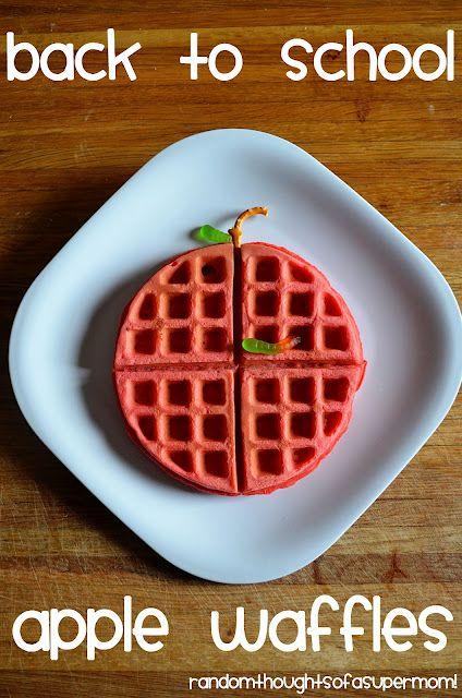 Back to School Apple Waffles: Waffles Recipe, Fun Food, Back To Schools, Schools Ideas, Schools Breakfast, Schools Apples, Apples Waffles, Random Thoughts, Backtoschool