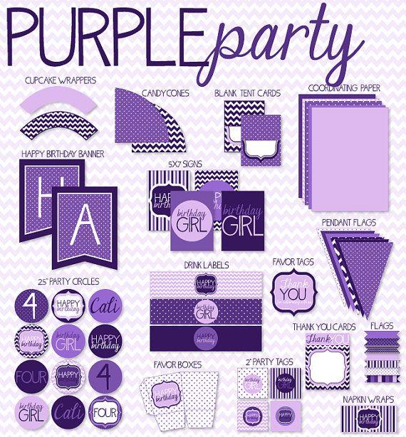 Purple Party Printables