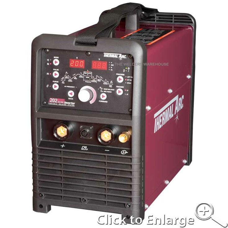"""Thermal-Arc 202 AC/DC Tig Welder This Superb 230v AC/DC 200amp Tig Welder offers superb features and performance at an exceptional price.  Chosen from Thermal-Arc's premium """"Arc Master"""" range, quality is at the heart of this Tig Welder, which bristles with just about every function you could possibly want from a Tig welder, including a Torch with inbuilt Remote Current Control.  Capable of Tig Welding pretty much any weldable metal, including ALUMINIUM!!  Price: £1,189.00"""