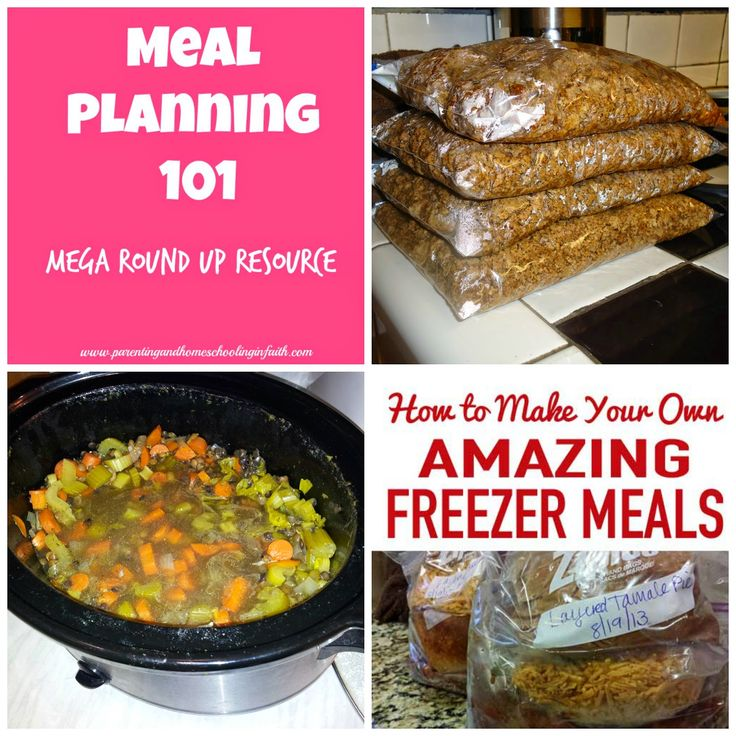"Meal Planning 101: Mega Resource Round Up! Links that cover topics from ""Monthly Meal Planning"" (with FREE printable!) to ""Freezer Batch Cooking""; ""12 Recipes From Chicken""; and tips on ""Slow Cooker Cooking"". Don't miss out on this great post! Book mark it!!! #mealplanning #roundup #food #freebie #meals #dinner"