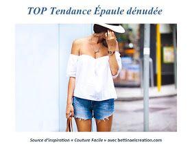 Bettinael.Passion.Couture.Made in france: Diy Fashion : Le Top Bardot Moderne et Sexy aux Épaules dénudée