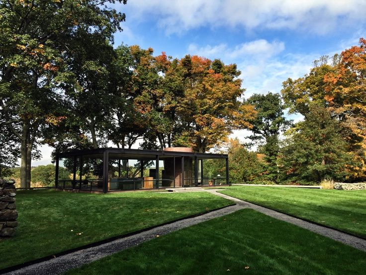 Lovely autumn day shoot by Eddie Rossetti at the Philip Johnson Glass House.  http://eddierossetti.tumblr.com/post/100011692021/i-was-lucky-enough-to-tag-along-on-such-a-lovely
