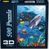 Spielspass Verlag 44307 - Delphin 3D Puzzle, 500 Teile
