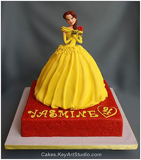 Fabulous Beauty and the Beast Cake. They did a great job on her facial features and dress
