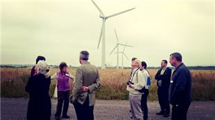 Councillors and officers from Winchester City Council toured renewable energy schemes last week to learn more about what the City Council might do next to move towards a low carbon Winchester District.