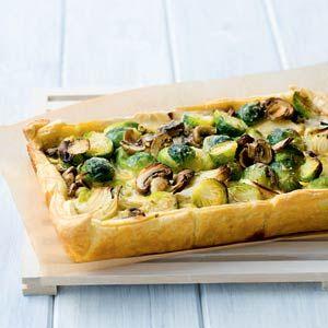 22 oktober - Spruiten in de bonus - Recept - Spruitjestaart met champignons - Allerhande