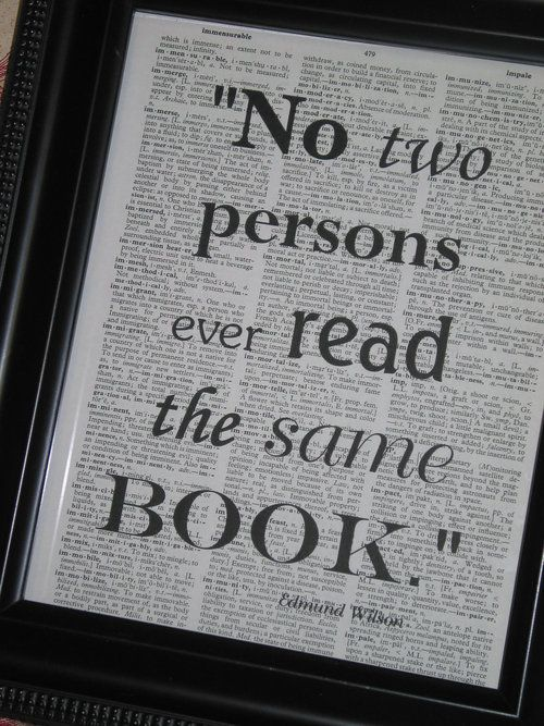 Should be our book club motto