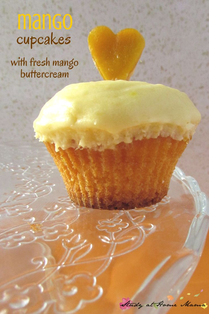 These fresh mango cupcakes with their natural tropical flavour, light, fluffy cake, & fresh mango buttercream are the perfect summer cupcake recipe