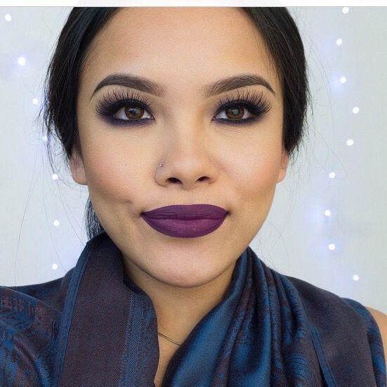 Nyx prune lip liner Mac heroine lipstick