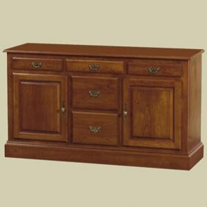 """Redux Antique Hardwood Sideboard Cabinets – 60"""" wide Heritage Colonial Sideboard Cabinet. Caringly hand-built & hand-finished by Mennonite & Amish craftsmen. Available in premium Oak, Maple, or Cherry hardwoods and a full range of durable finish colors. Find the Heritage Colonial Sideboard Cabinet at http://www.mennonite-furniture-studios.com/Amish-Heritage-Colonial-Sideboard-Cabinet,-60-inch/"""
