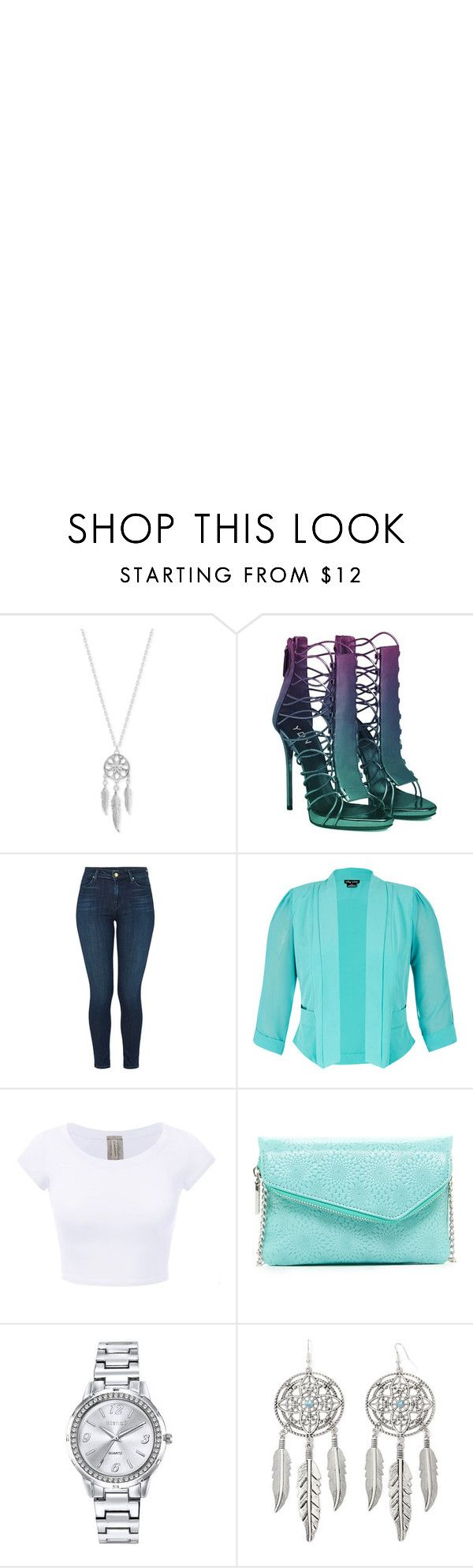 """Dream in Turquoise"" by alphashe on Polyvore featuring Lucky Brand, J Brand, City Chic, HOBO, Mestige and Arizona"