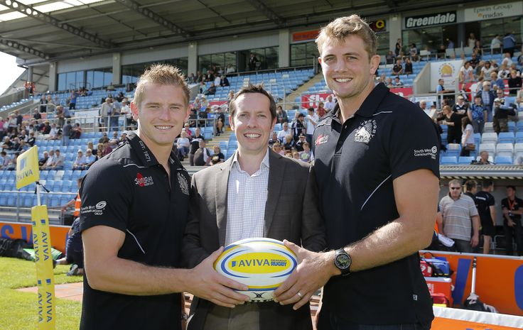 Partner Mark Manning with the Exeter Chiefs