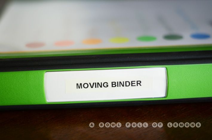 How to organize your move MOVING BINDER GENIUS @Stacy Lambright