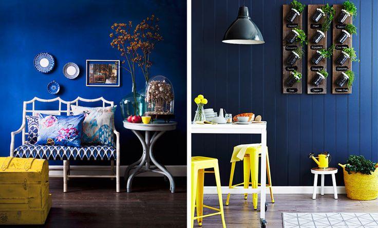 Die besten 17 ideen zu dunkelblaue w nde auf pinterest - Dunkelblaue wand ...