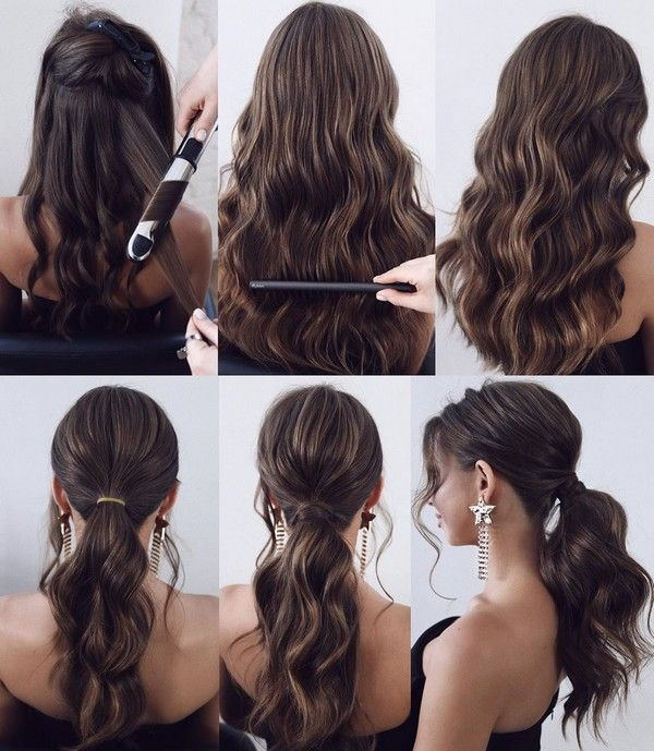 34 Diy Hairstyle Tutorials For Wedding And Prom Ponytail Hairstyles Tutorial Hair Styles Long Hair Styles