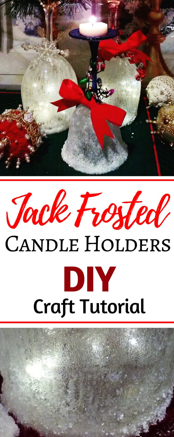 Magnificent frosted candle holders tutorial for the ultimate DIY centerpiece decorations. These ideas for easy beautiful homemade Christmas candles holders are perfect Christmas decorations for the home. These cheap Christmas crafts for kids to make with items from the Dollar store are perfect for toddlers and for adults! PLUS 25 other Christmas crafts diy and Christmas recipes! #Christmas #Christmasdecor #candles