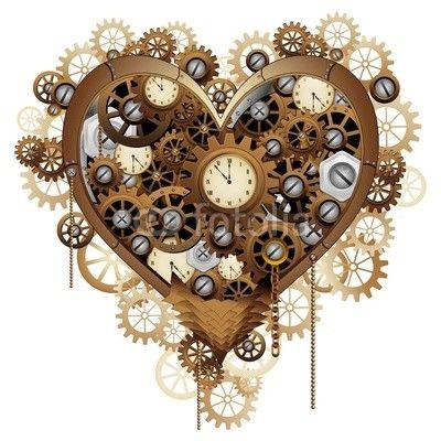 NEW at #Fotolia! ♥ #Steampunk #Heart #Love © #BluedarkArt http://it.fotolia.com/id/77673409