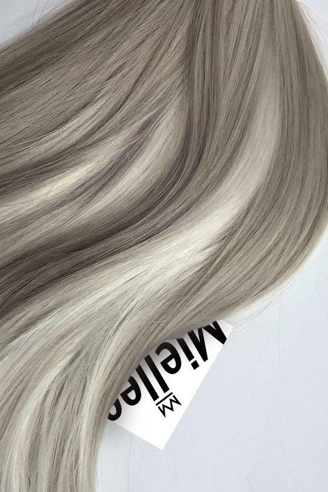 Medium Ash Blonde Balayage Seamless Tape Ins | Silky Straight Remy Human Hair