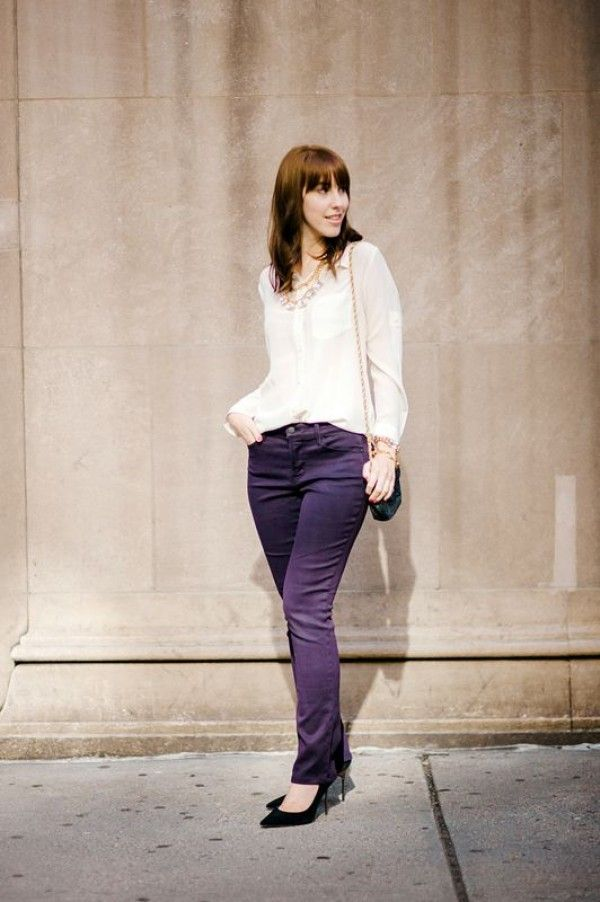 Fall Denim Trends With NYDJ + A Contest | theglitterguide.com  - I love the color of these!  #NYDJStyle