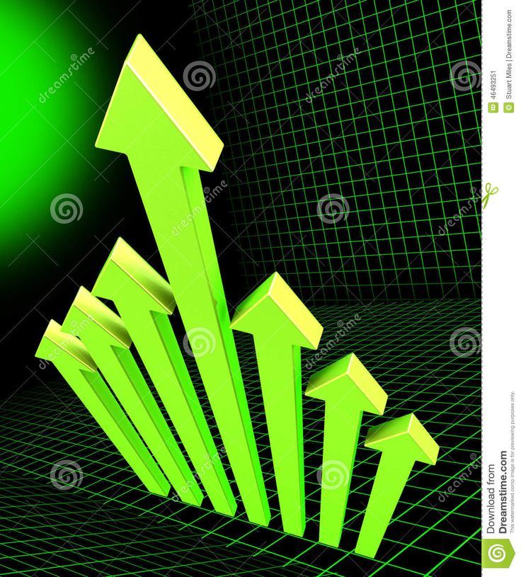 Arrows Going Up Means Growing Pointing And Raise Stock Illustration - Image: 46493251
