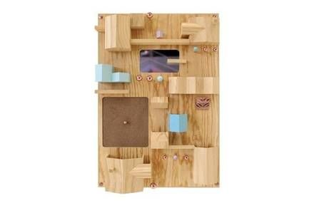 """""""SUBURBIA"""" WOODEN WALL STORAGE SOLUTION - NATURAL"""