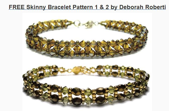 Free Bead Bracelet Patterns at Sova-Enterprises.com Lots of free beading patterns and tutorials available on this site!