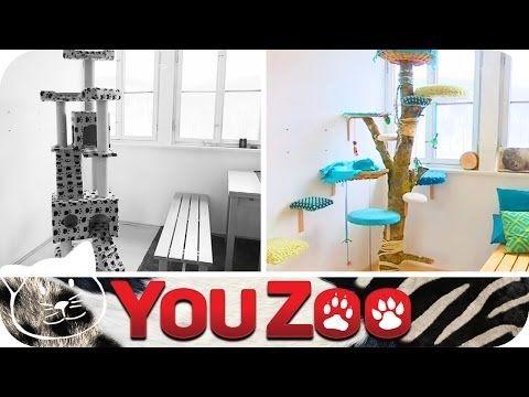 Kratzbaum selbst machen - Bines Budenzauber │YouZoo - YouTube