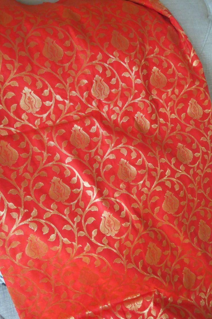 Kanchi Purim Silk Sari in Orange by ZainabBoutique on Etsy