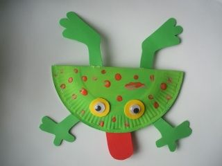 Create different frog species from paper plates (page in French)