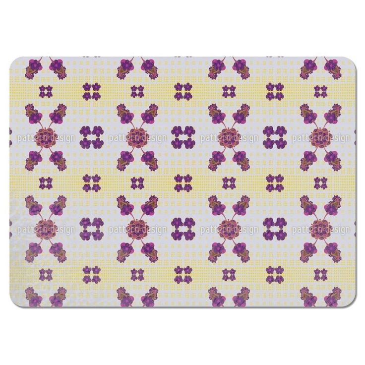 Uneekee Fantastic Purple Placemats (Set of 4) (Fantastic Purple Placemat) (Polyester, Floral)
