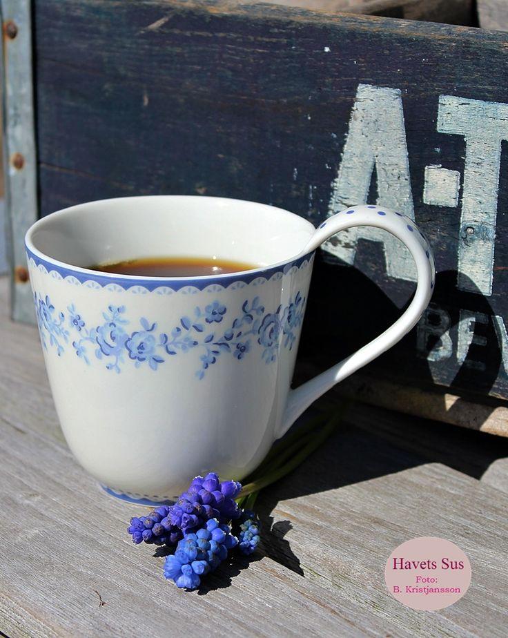 Greengate, Audrey Indigo, Danishdesign, coffee, my garden, perlehyacinter, Havets Sus, Denmark