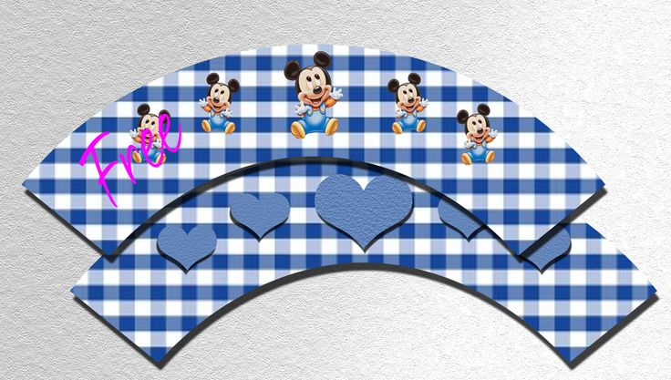 Baby Mickey Mouse Cupcake Wrappers - FREE PDF Download