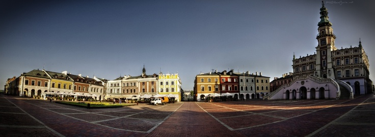 Zamosc (Poland), Old Town in the morning.  (1st pin, the test pin;))