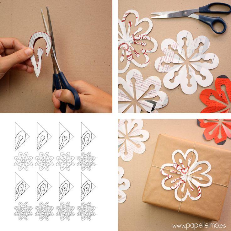 M s de 25 ideas nicas sobre copos de nieve de papel en - Decoracion navidad papel ...