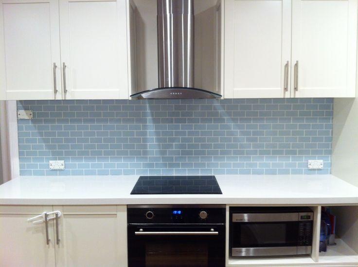 Duck egg blue splashback tile google search kitchen for Grey and duck egg blue kitchen
