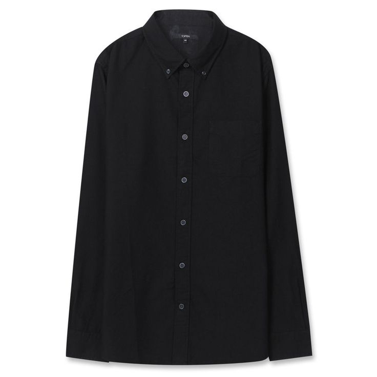Topten10 Unisex Modern Black Solid Formal Oxford Buttondown Cotton Dress Shirts #Topten10