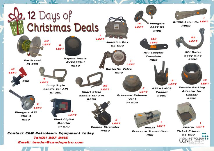 C&N's 12 Days of Christmas Deals! 🎄🎅 Don't miss out! Contact C&N today ☎️ #oilandgas #equipment #petroleum #loading