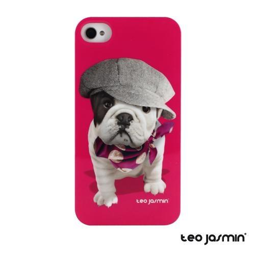 Offrez à votre iPhone votre mascotte préférée. Coque Téo Jasmin Titi pour iPhone 4, 4S #case #coque #iphone5 #TeoJasmin #bulldog #pink