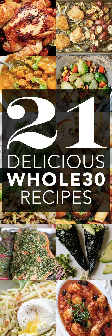 21 DELICIOUS Whole30 Approved Recipes and Ideas. You don't have to go hungry when there are so many tasty meals to try on Whole 30! Options from breakfast to lunch to dinner, in your crockpot or slow cooker, on the stove or in the oven. EAT UP!