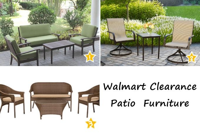 Walmart Patio Furniture 50% OFF Clearance - check out these great deals we found!  www.time2saveworkshops.com